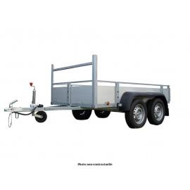 Option côtés en aluminium pour simple et double essieux