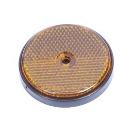 Catadioptre rond à visser – 61 mm - orange