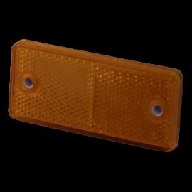 Catadioptre rectangle autocollant orange