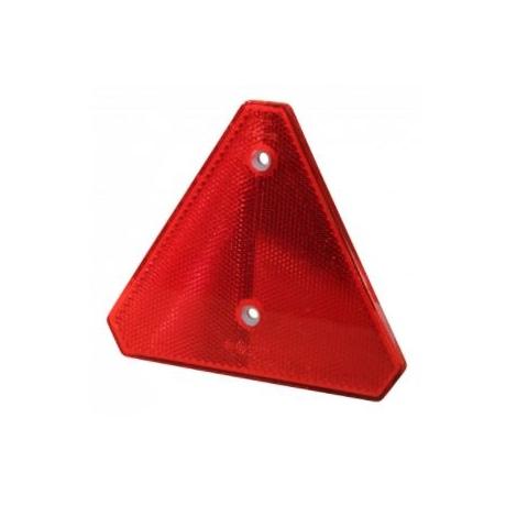 Catadioptre rouge triangulaire à visser