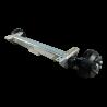 Essieu freiné Knott 1800kg pour remorque et caravane - 1800 kg - 800 mm - 1270 mm (C) - 5x112