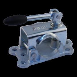 Support pour roue jockey ∅ 48 mm poignée tournante