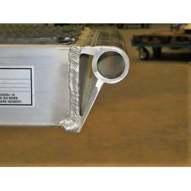Tête tuyaux (T) pour rampes de chargement en aluminium